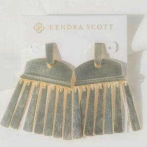 Kendra Scott Layne Metallic Statement Earrings